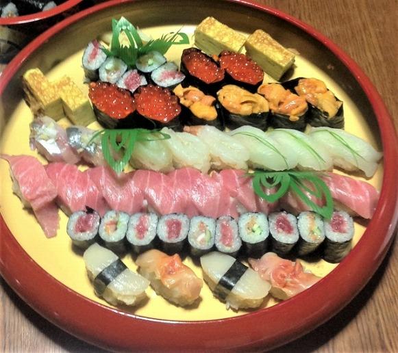 特上寿司の盛付例