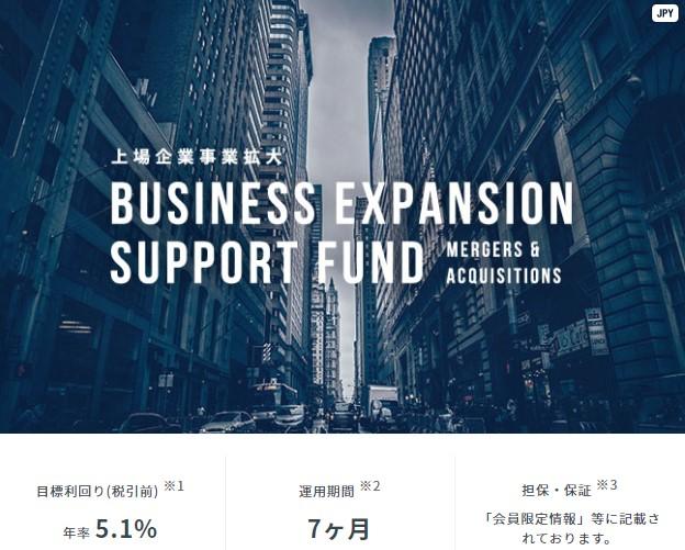 上場企業事業拡大支援ファンドの概要