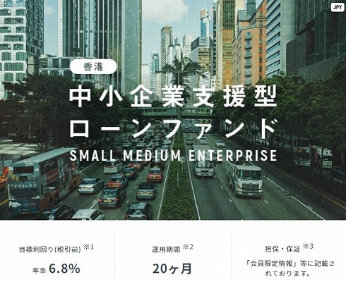 香港 中小企業支援型ローンファンドの概要