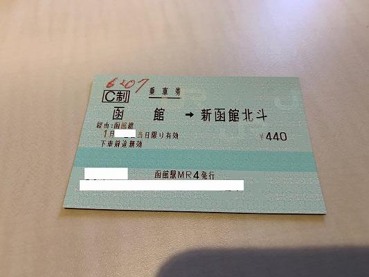 函館ライナーの乗車券