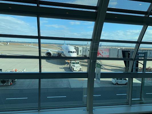 函館行き飛行機の様子
