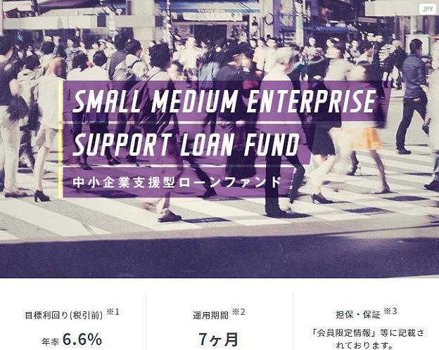 中小企業支援型ローンファンド第699号の概要