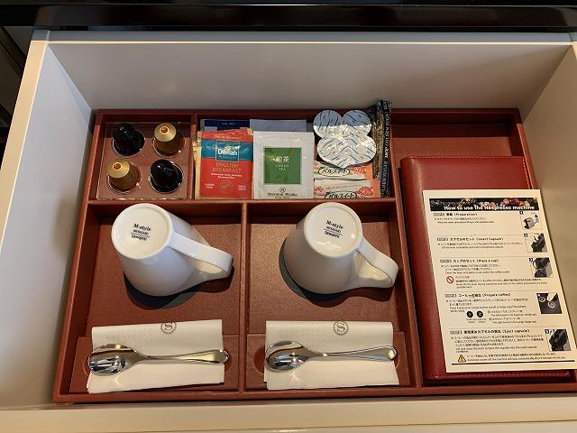 シェラトン都ホテル東京 プレミアムフロア スーペリア 備品の様子1