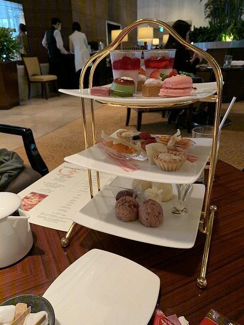 シェラトン都ホテル東京 ラウンジバンブーのアフタヌーンティーセット