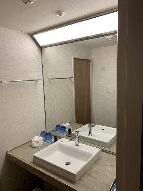 富士マリオットホテル山中湖 スーペリアキングルーム 洗面所の様子