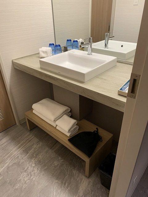 富士マリオットホテル山中湖 スーペリアキングルーム 洗面所の様子2