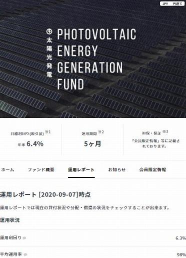 クラウドバンク 太陽光発電ファンド第1668号 運用結果