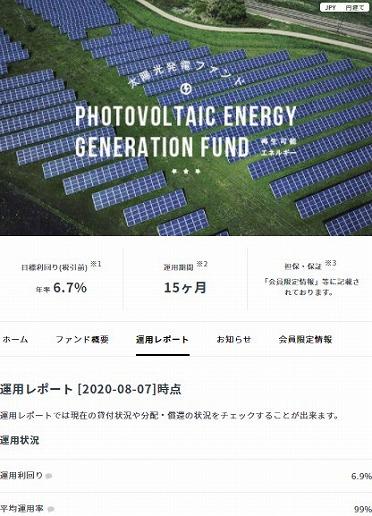 クラウドバンク 太陽光発電ファンド第1679号 運用結果